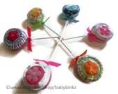 6 x Washcloth Lollipops - Unique Baby Gifts & Favors boy girl neutral infant washcloth