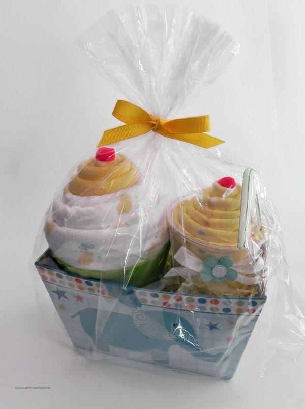 Baby Blanket Gift Box : Gift box receiving blanket milkshake and jumbo baby cupcake