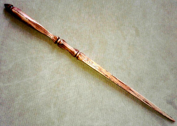Sale... Harry Potter Magic Wand - hand carved oak 12 inch wand