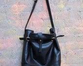 Super Soft Black Leather Bag