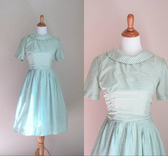 1950s gingham dress / vintage party dress