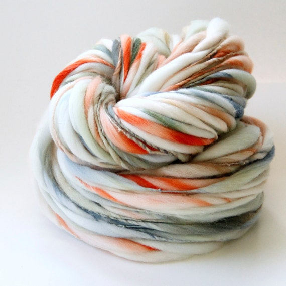 90 Yards Handspun Thick and Thin Slub Yarn - 2.9 Ounces - Free Shipping in the US