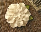 Romantic White Felt Fabric flower Perfect for Mother's day