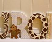 Carters Jungle theme Nursery letters, Block