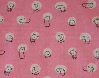 Monsterz Spotlight Pink - Organic Cotton - Cloud9 Fabrics - 1/2 yard