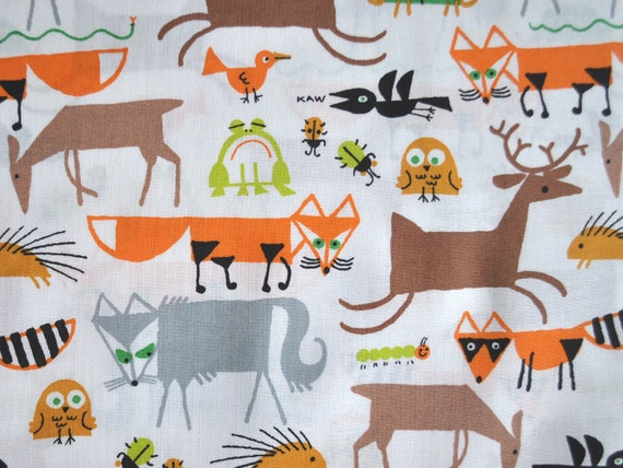Forest Friends - Organic Cotton - Cloud9 Fabrics - 1/2 yard