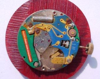 SALE:  Vintage Button Pin Watch Me Vintage Button Jewelry Steampunk