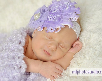 Lavender Nagorie Feather Pad Headband