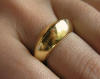 Solid Gold Ring - Hollow Sculpted Ring 14k gold