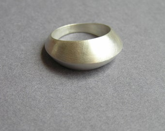 Silver Ring - Sculpted Hollow Sterling Silver Ring