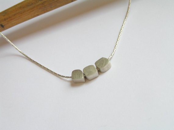 Silver Necklace Pendant - Small Cubes pendants - Sterling Silver