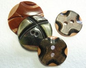 Overlay Celluloid Buttons, Laminated, Wafer Buttons, Mix,  OCb45