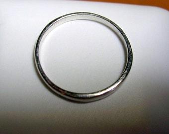 Classic 14K WG 2mm Wedding Band Size 7 1/8 FREE Shipping USA