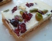 Sweet and Salty White Chocolate Cranberry Pistachio Toffee Butter Cracker Candy (1/2 lb)