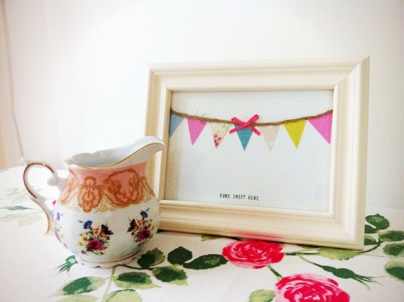 bunting picture frame/ home decor/ housewares/ gifts SALE