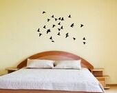 Birds Wall Decal - Flock of Birds in Flight Vinyl Wall Decal 22163