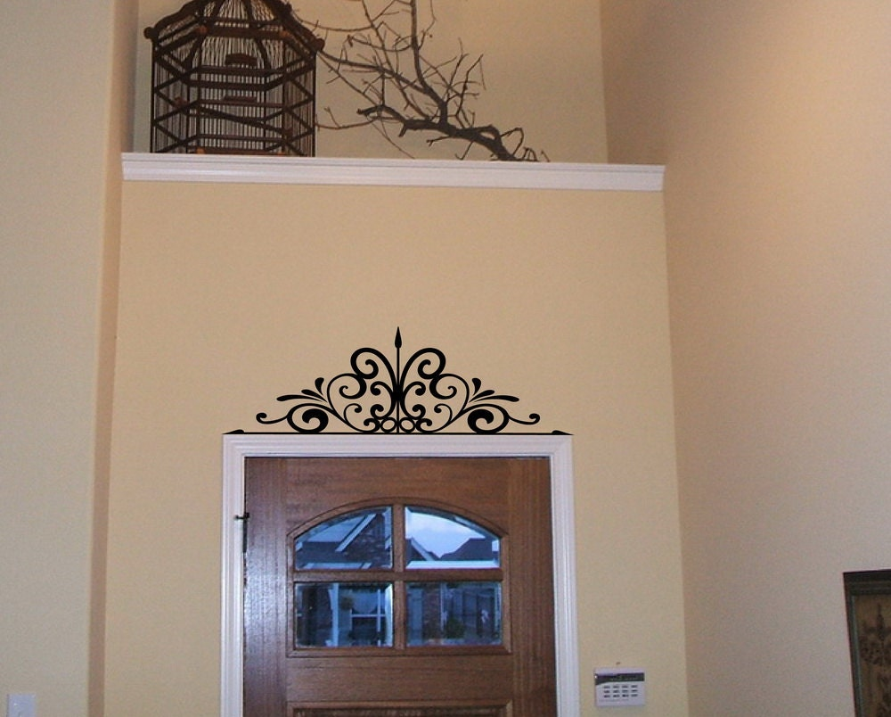 wall scroll over the door or window iron by cuttinupcustomdiecut