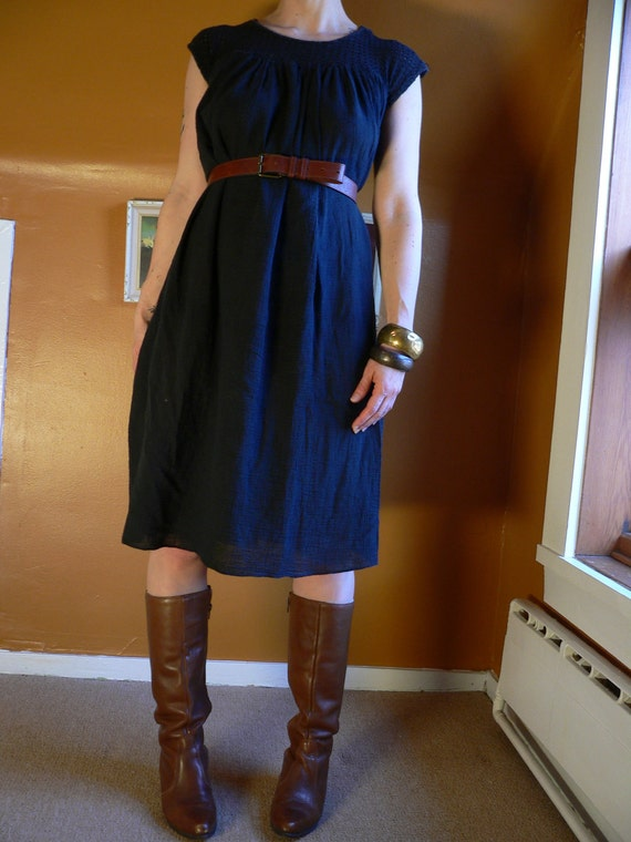 Black Cotton Hippy GYPSY SUMMER DRESS