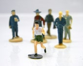 Scale People - Miniature People - Set of SIX Standing Men - For Terrarium, Scenes & Photography