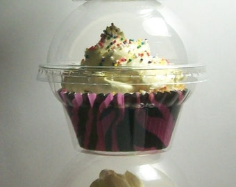 50 Crystal Clear Cupcake Boxes