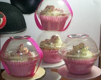60 Crystal Clear Cupcake Favor Boxes - Weddings-Showers-Birthdays-Anniversaries-Graduations- Christenings