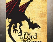 The Lord of the Rings - Vintage Poster A3 Print