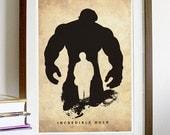 Incredible Hulk A3 Poster Print