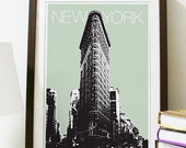 New York City Skyline - Flatiron Building Art Print A3 Poster