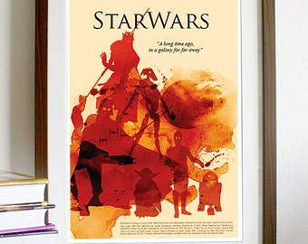 Star Wars Movie Poster Print