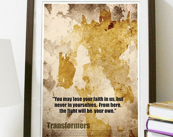 Transformers Movie Poster Print