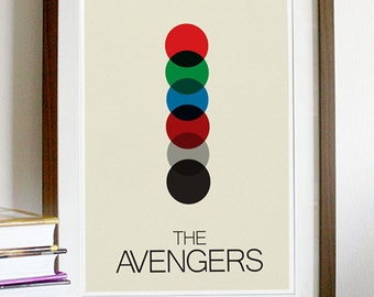 The Avengers Minimalist Poster Print