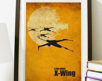 Star Wars - X-Wing Poster Vintage Print