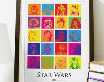 Star Wars Pop Art Poster Print