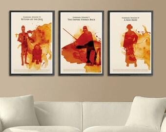 Star Wars Movie Trilogy Poster Set