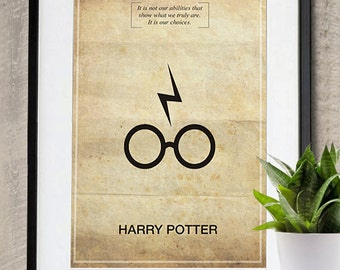 Harry Potter Memorable Quote Vintage Movie Poster Print