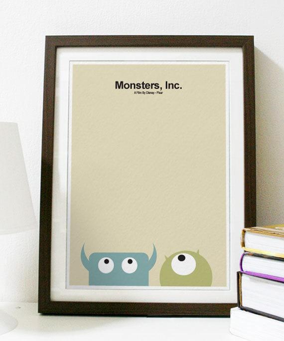 Monsters, Inc. - Pixar Anime Poster