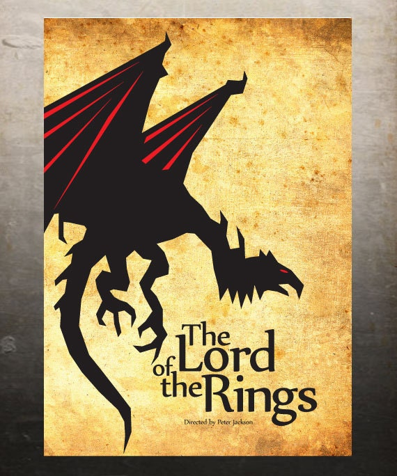 items similar to the lord of the rings vintage poster a3