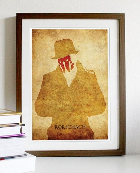 Watchmen Rorschach Vintage Poster Print