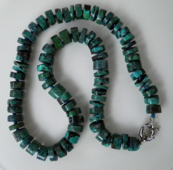 HANDMADE: Genuine 11MM Natural Turquoise Necklace