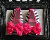 Baby Zebra Ballet Flat Crib Shoes