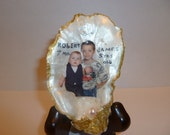 "Have Your Kids Picture In A Oyster Shell With A 3"" Easel."