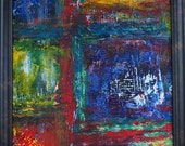 In There - Abstract Acrylic Painting - Framed