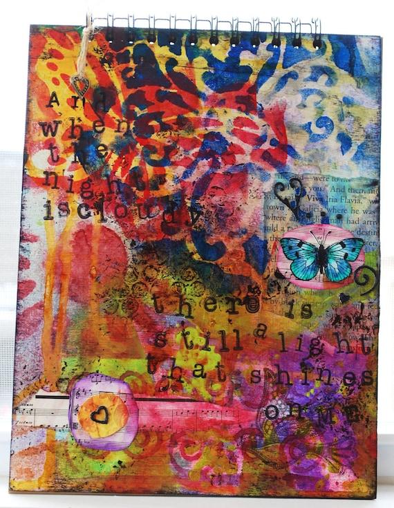 Shines on Me - Unique Notebook,  Sketchbook, Journal