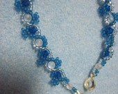 Crystal Bliss beadwoven earrings, MADE TO ORDER for Toni Nemia