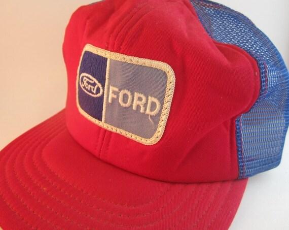 Genuine Vintage Trucker Hat Mens Hat WOW Ford 1970s
