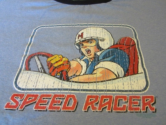 Vintage Speed Racer Tshirt Size 2XL Excellent Mens Clothing
