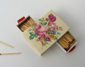 Vintage Tile Matchbox Flower Design/ 1950's