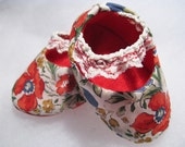 Chic floral baby shoes, unique baby gift