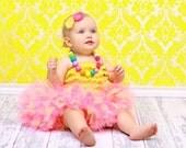 Tutu Petti Tutu Baby Toddler Girls - Newborn to 5T - Pink Lemonade with Matching Headband