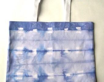 Lavender and White Tie Dye Cotton Tote Bag